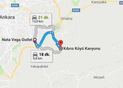 kıbrısköy kanyon harita
